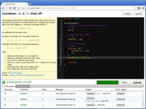 CloudCoder screenshot