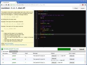 CloudCoder screenshot